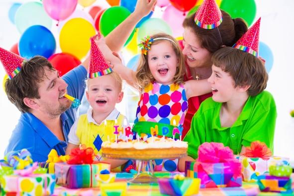 Family Celebrating Birthday Party